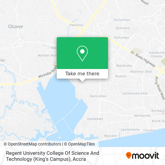 Regent University College Of Science And Technology (King's Campus) map