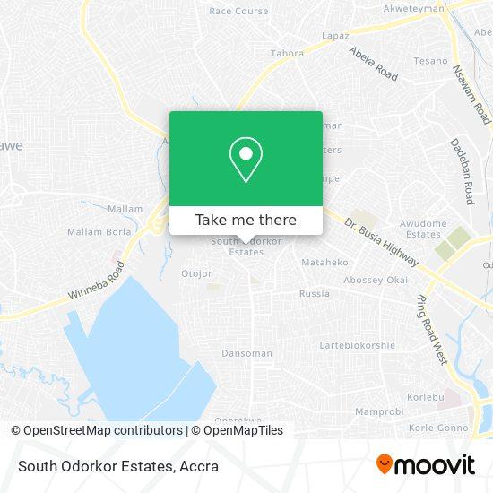 South Odorkor Estates map