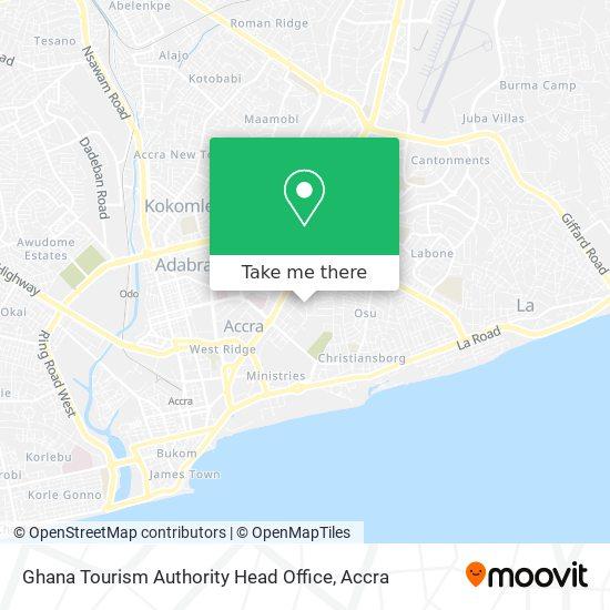 Ghana Tourism Authority Head Office map