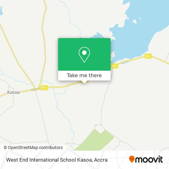 West End International School Kasoa map