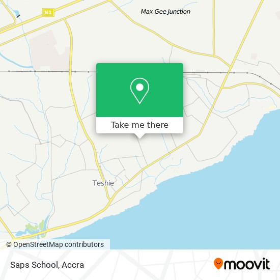 Saps School map