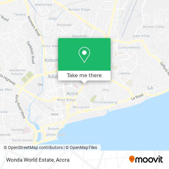 Wonda World Estate map