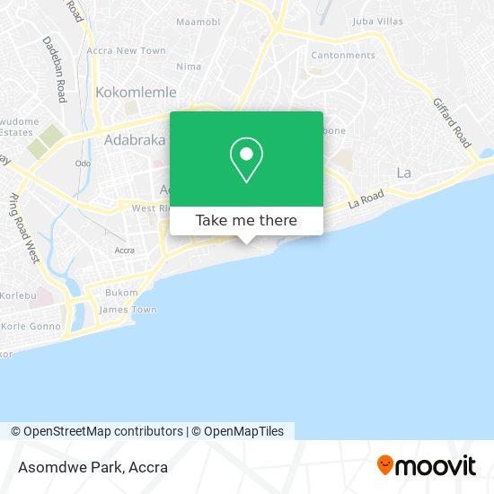 Asomdwe Park map