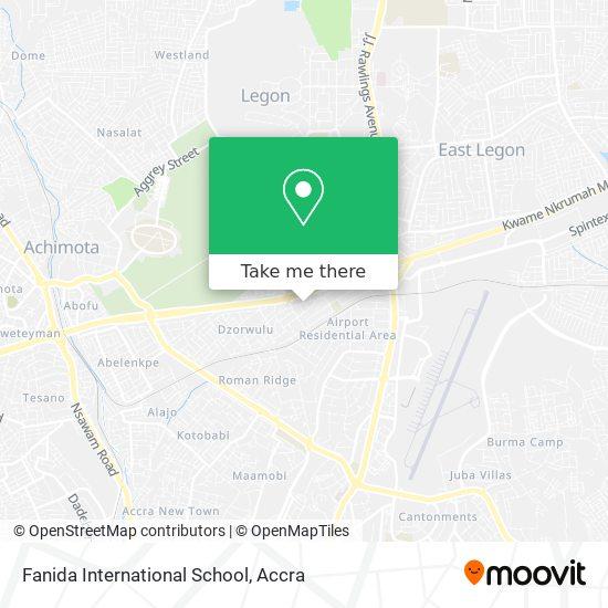 Fanida International School map