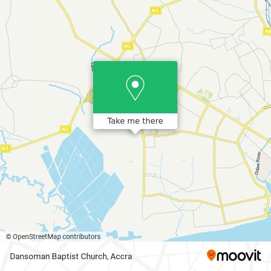 Dansoman Baptist Church map