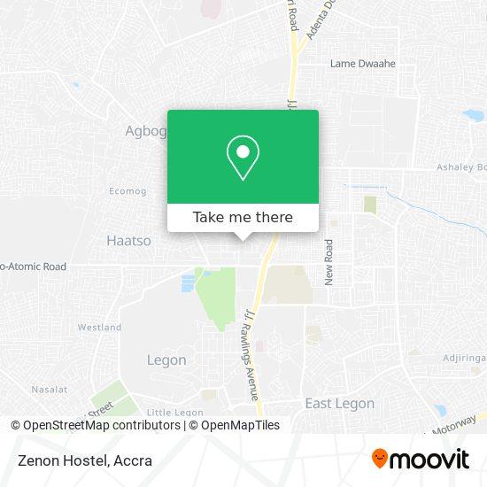 Zenon Hostel map