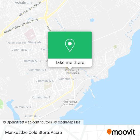 Mankoadze Cold Store map