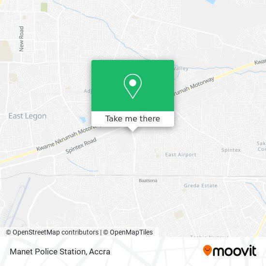 Manet Police Station map