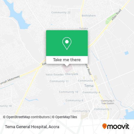 Tema General Hospital map