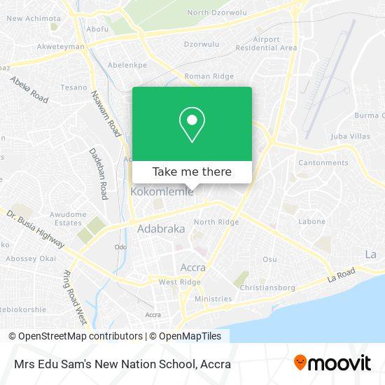 Mrs Edu Sam's New Nation School map
