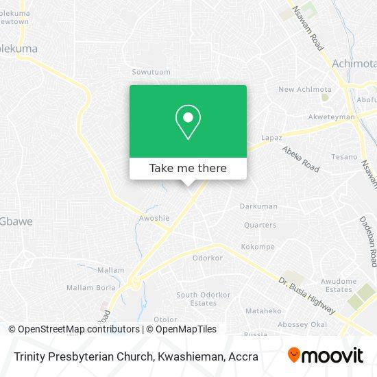 Trinity Presbyterian Church, Kwashieman map