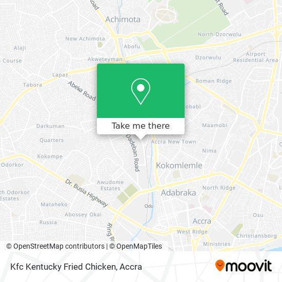Kfc Kentucky Fried Chicken map