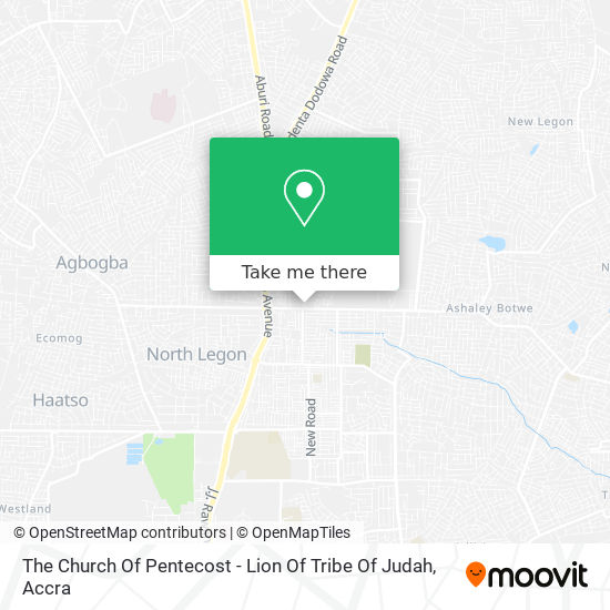 The Church Of Pentecost - Lion Of Tribe Of Judah map
