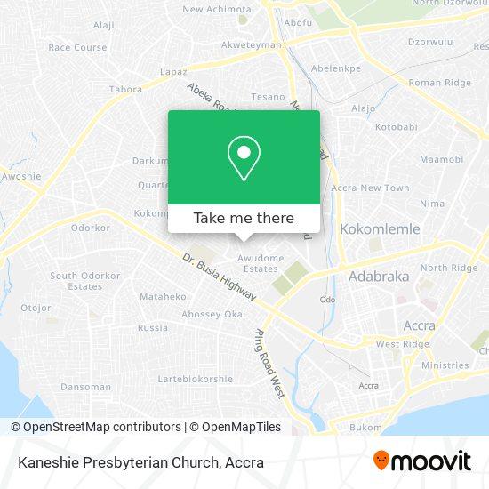 Kaneshie Presbyterian Church map