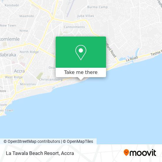 La Tawala Beach Resort map