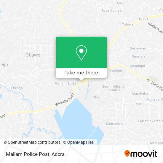 Mallam Police Post map