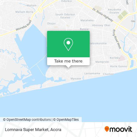 Lomnava Super Market map