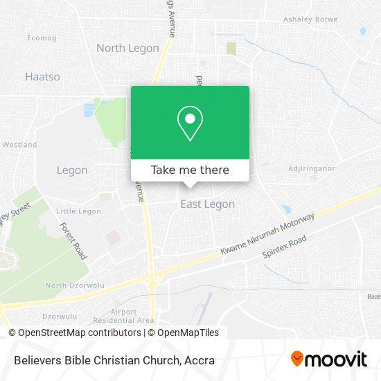 Believers Bible Christian Church map