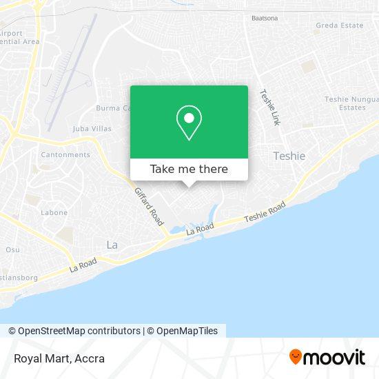 Royal Mart map
