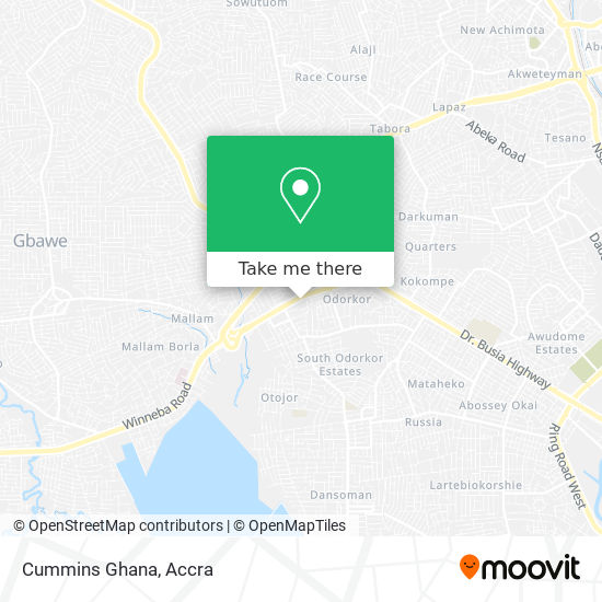 Cummins Ghana map
