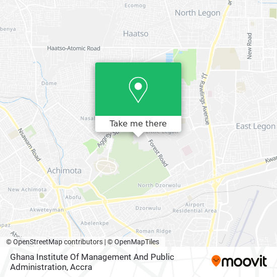 Ghana Institute Of Management And Public Administration (Gimpa) map