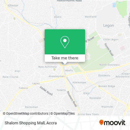 Shalom Shopping Mall map