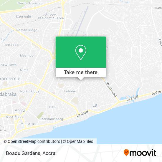 Boadu Gardens map