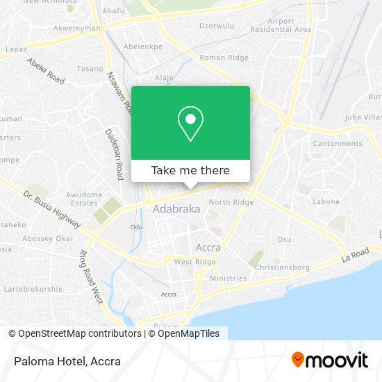 Paloma Hotel map
