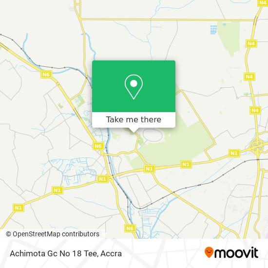 Achimota Gc No 18 Tee map