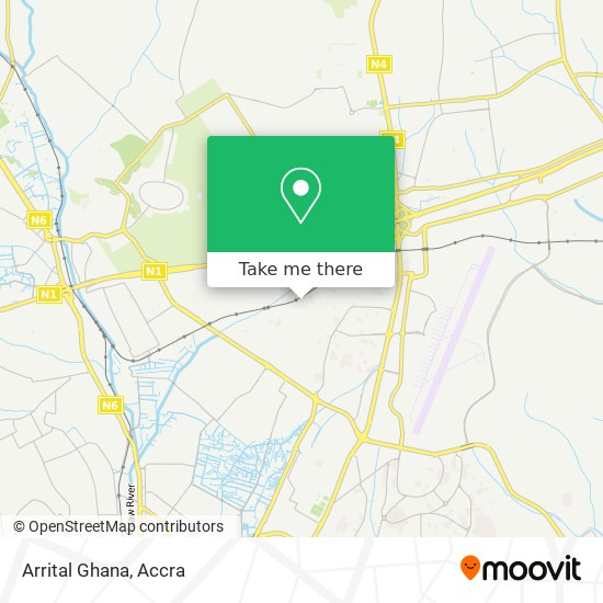 Arrital Ghana map