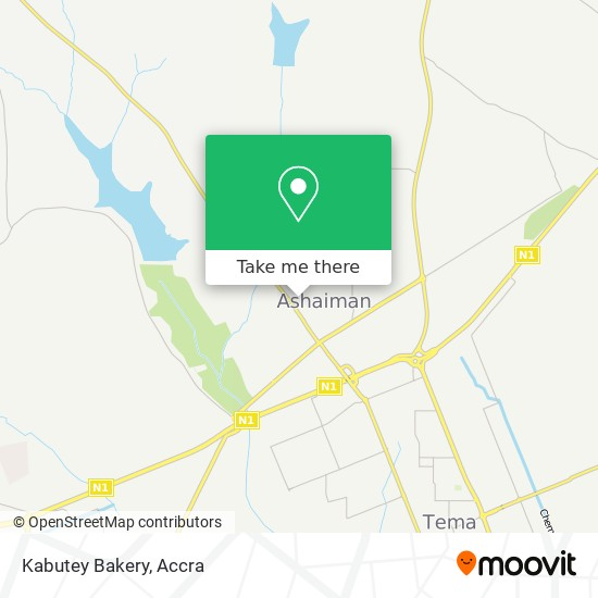 Kabutey Bakery map