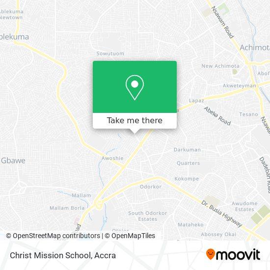 Christ Mission School map