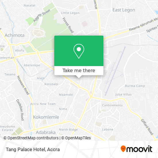 Tang Palace Hotel map