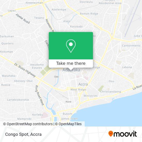 Congo Spot map