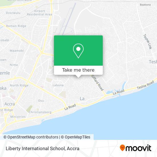Liberty International School map