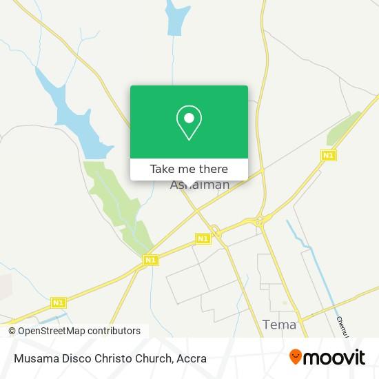 Musama Disco Christo Church map