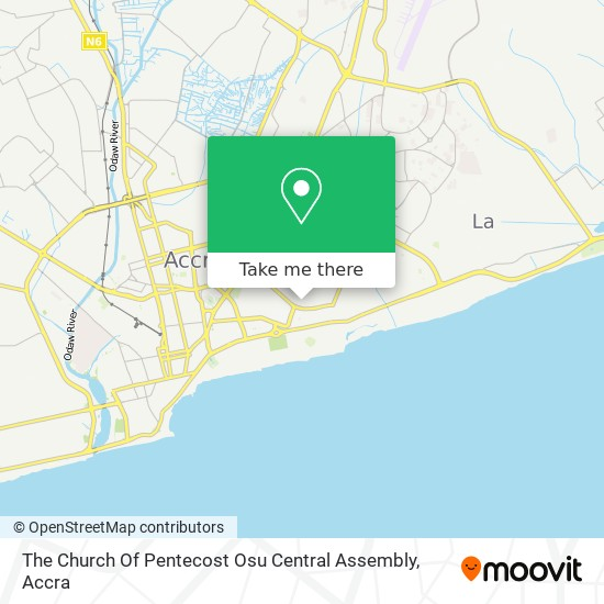 The Church Of Pentecost Osu Central Assembly map