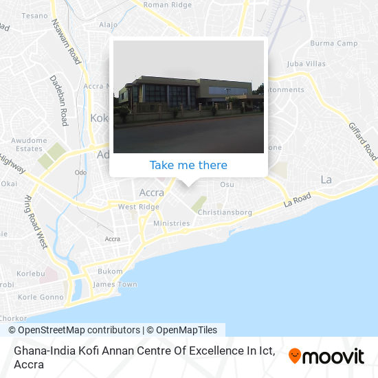Ghana-India Kofi Annan Centre Of Excellence In Ict map