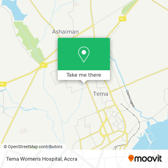 Tema Women's Hospital map