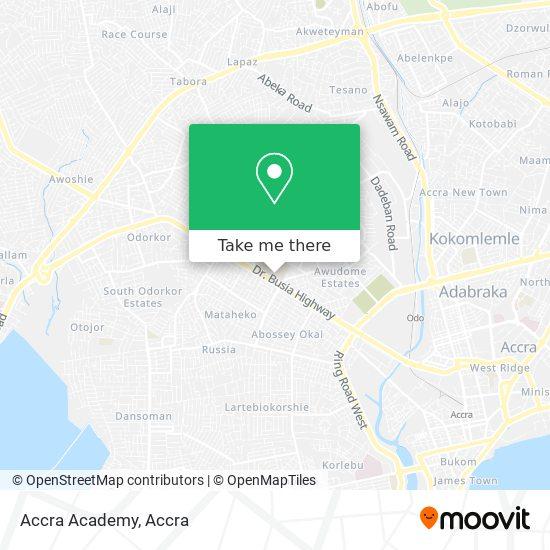 Accra Academy map