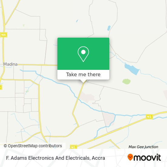 F. Adams Electronics And Electricals map