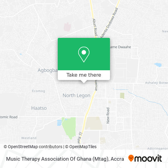 Music Therapy Association Of Ghana (Mtag) map