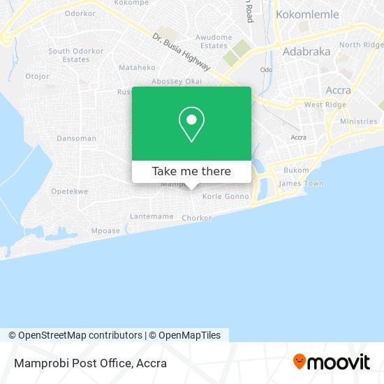 Mamprobi Post Office map