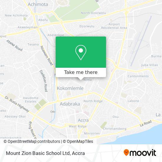 Mount Zion School map