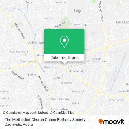 The Methodist Church Ghana Bethany Society Dzorwulu map