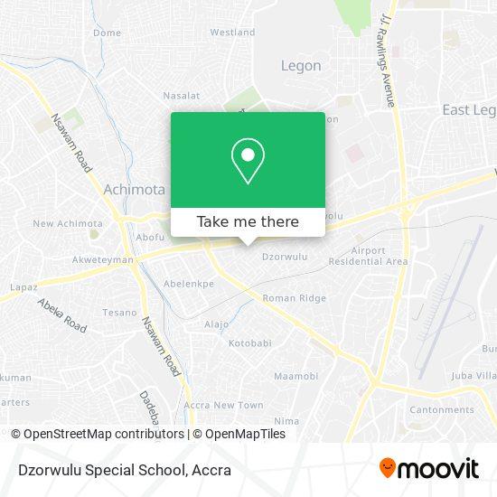 Dzorwulu Special School map