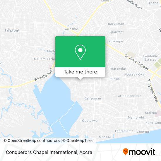 Conquerors Chapel International map