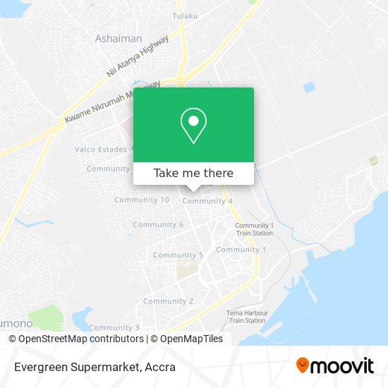 Evergreen Supermarket map
