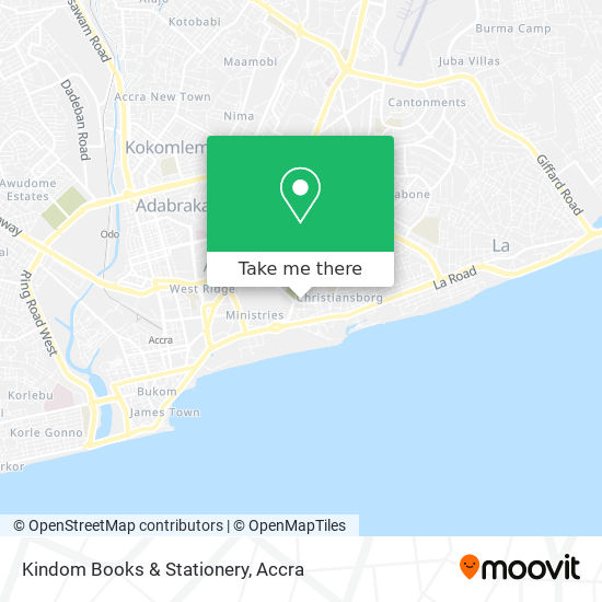 Kindom Books & Stationery map