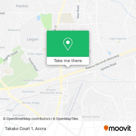 Takako Court 1 map